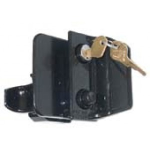 Trimatic door lock assembly with key