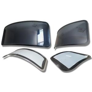 Custom Horse Float Curved Fixed Windows - OzVan - Australian Made